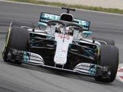Der Beste in der Qualifikation auf dem Circuit de Barcelona-Catalunya: Lewis Hamilton (Bild: KEYSTONE/EPA EFE/ANDREU DALMAU)