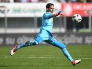 Lausanne-Sport und Torhüter Thomas Castella droht der Abstieg in die Challenge League (Bild: KEYSTONE/TI-PRESS/GABRIELE PUTZU)