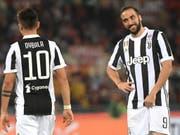 Gonzalo Higuain freut sich mit Juventus Turin über den siebten Titel in Folge (Bild: KEYSTONE/EPA ANSA/CLAUDIO PERI)