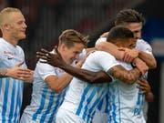 Der FC Zürich feiert nach fünf Jahren wieder einen Sieg gegen Basel (Bild: KEYSTONE/PATRICK B. KRAEMER)