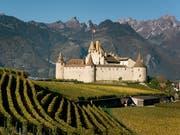 Aigle im Waadtland wird im Jahr 2019 die Welt-Weinhauptstadt. (Bild: KEYSTONE/CHRISTIAN BEUTLER)