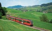 Der neue Zug auf der Linie Gossau-Appenzell-Wasserauen. (Bild: PD)
