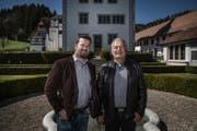 Steuern die Geschicke von Ebersecken und Altishofen: Thomas Roos (links) und Urs Kaufmann. (Bild: Pius Amrein / LZ)