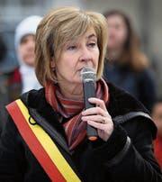 Françoise Schepmans bei einem Gedenkanlass zu den Anschlägen vom 22. März 2016 in Brüssel. (Bild: Virginie Lefour/Imago (21. März 2018))