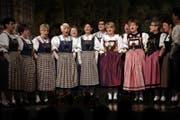 Das Heimatchörli Luzern, hier beim Zentralschweizer Jodlerfest 2014 in Baar. (Bild: Christof Borner-Keller (Baar, 26. April 2014))