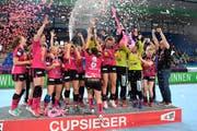 Die Spono Eagles gewinnen im Final gegen den LC Brühl und feiern den vierten Cupsieg der Vereinsgeschichte. (Bild: Alexander Wagner)