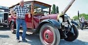 Camionette Baujahr 1925 mit Vorbesitzer Kurt Bähler.