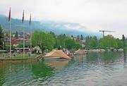 Vor der Küssnachter Minigolfanlage werden die Bootsplätze neu eingeteilt. (Bild: Erhard Gick)