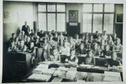 Klassenfoto aus dem Mörschwiler Gallusschulhaus von 1920. Bild: PD