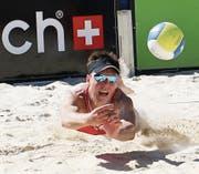 Das Sarner Seefeld steht am Wochenende ganz im Fokus des Beachvolleyballs. (Bild: Beda Filliger / bedaimages.ch (Beda Filliger / BEDAimages))