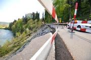 Die Haldenstrasse zwischen Schönenberg und Halden drohte wegen eines Erdrutschs abzurutschen. (Bild: Donato Caspari)
