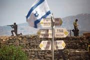 Israelische Soldaten auf den Golanhöhen. Israel hatte in der Nacht auf Donnerstag mutmassliche iranische Stellungen in Syrien attackiert. (Bild: Lior Mizrahi/Getty (10. Mai 2018))