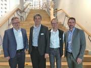 Freuen sich übers Lob für die Instandstellung der Alten Schollbergstrasse: Bruno Seifert, Marcel John, Cornel Doswald und Jürg Tanner. (Bild: PD)