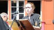 Die Innerrhoder Jus-Studentin Adriana Hörler kritisierte an der Landsgemeinde die Spitalvorlage und die Versammlungsführung. (Bild: Rolf Rechsteiner/Appenzeller Volksfreund)