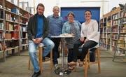 Simeon Krumpaszky, Roger Stieger (Geschäftsführer), Marlise Bornhauser (Präsidentin), Jeannine Schiavone (Finanzen). (Bild: PD)