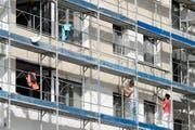 Im Baugewerbe wird ein Aufschwung erwartet. (Symbolbild Keystone)
