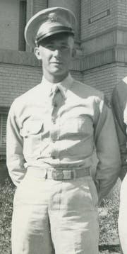 Carl Larsen während der Ausbildung. (Bild: Sher Green-Larsen)