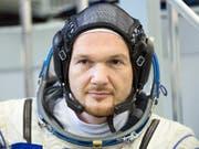 Der deutsche Astronaut Alexander Gerst ist bereit für seine zweite Mission auf der Raumstation ISS. (Bild: KEYSTONE/AP/PAVEL GOLOVKIN)