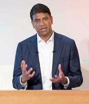 Novartis-Konzernchef Vasant Narasimhan. (Bild: Key (24. Januar 2018))