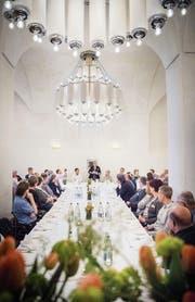 Die Gäste feierten das 125-Jahr-Jubiläum im Keller der Kornschütte. (Bild: Andrea Stalder)