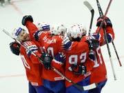 Die Norweger freuen sich über den Ligaerhalt (Bild: KEYSTONE/AP/PETR DAVID JOSEK)