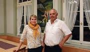 Monika Steingruber und Präsident Chläus Hörler. (Bild: Martin Schneider)