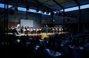 Die Hallen des Ökihofs haben sich als gutes Konzertlokal herausgestellt. (Bild: Stefan Kaiser, Baar, 12. Mai 2018)