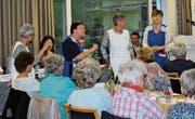 Pflegerinnen erzählen Geschichten von der Spitex. (Bild: Manuela Olgiati)