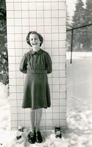 Barbara als Achtjährige in einem Kinderheim in der Ostschweiz. Aufgenommen im Dezember 1953. (Bild: PD)