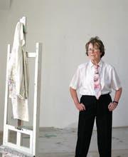 Maria Lassni in ihrem Atelier in Wien im März.2002. (Bild: Bettina Flitner)