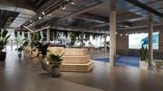 Indoor-Surfwelle in der Mall of Switzerland: Am 13. September wird sie eröffnet. (Bild: PD)