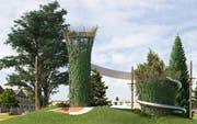 Eine der Attraktionen der geplanten Freizeitanlage sind zwei Aussichtstürme. (Bild: PD/ Susanne Fritz Architekten)