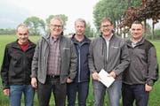 Das Attinghauser Quintett meisterte souverän das Feld E. Von links: Stefan Zurfluh, Urban Camenzind, Ivo Gisler, Louis Camenzind und Markus Zurfluh. (Bild: Paul Gwerder (Flüelen, 5. Mai 2018))