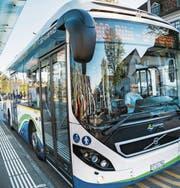Ein Kreuzlinger Stadtbus an der Haltestelle Bärenplatz. (Bild: Andrea Stalder)