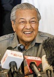 Mahathir Mohamad wurde mit 92 Jahren zum ältesten Regierungschef der Welt gewählt. (Bild: Ahmad Yusni/EPA (Kuala Lumpur, 10. Mai 2018))