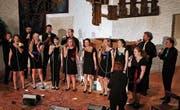 Mit stimmigem Chorgesang erfreuten die Gäste aus der Tschechei das Publikum in Berneck. (Bild: Max Pflüger)