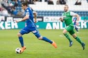 Tomi Juric (links) ist mit 7 Toren der zweitbeste Torschütze bei den Luzernern. Ob er auch gegen St.Gallen treffen wird? (Bild: URS FLUEELER (KEYSTONE))