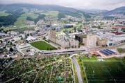 Blick auf das künftige Mattenhof-Areal in Kriens. (Bild: Visualisierung: PD)