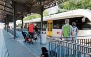 Jeder Thurbo, der aus dem Bahnhof Rorschach rollt, kostet die Stadt etwa 2.40 Franken. (Bild: Rebecca Frei)