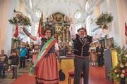 Eine volle Kirche für die Festsieger Alice Stalder und Erwin Emmenegger. (Bild: Dominik Wunderli (Schüpfheim, 10. Mai 2018))