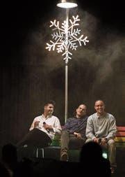 Rap kann auch klug sein: CBN, Tommy Vercetti und Dezmond Dez. (Bild: Moritz Keller)