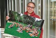 Der Fotograf Augustin Saleem lebt seit 28 Jahren in St. Gallen und möchte mit seiner Ausstellung der Stadt etwas zurückgeben. (Bild: PD)