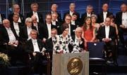 Literaturprofessorin und Akademie-Sekretärin Sara Danius bei der Verleihung des Nobelpreises für Literatur im Dezember 2017. (Bild: Pascal Le Segretain/Getty (Stockholm, 10. Dezember 2017))