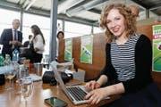 Laura Curau war seit Anfang 2015 CVP-Kampagnenleiterin. (Bild: Peter Klaunzer/Keystone (Bern, 21. Mai 2017))