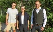 Die Kantonsratskandidaten: Basil Höfliger, Rita Hofer und Phil Eicher (von links). (Bild: PD (Hünenberg, 8. Mai 2018))