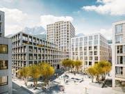 Blick auf das Mattenhof-Quartier. (Bild: Visualisierung: PD)