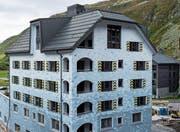 Die Blecharbeiten am Wohnhaus Edelweiss in Andermatt haben die Jury der «goldenen Spenglerarbeit 2018» beeindruckt. (Bild: PD)