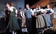 Eine der unzähligen gelungenen Darbietungen am Heimatabend der Trachtengruppe Mühlau. (Bild: Werner Schelbert (Mühlau 29. April 2018))
