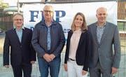 Die Nominierten: Marcel Güntert, Pius Meier, Lotta Pettersson und Peter Letter (von links). (Bild: Ruedi Burkart (Oberägeri, 8. Mai 2018))