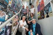 Der Vorstand des Kulturvereins Tropfstei freut sich sehr über den Anerkennungspreis. (Bild: Dominik Wunderli (Ruswil, 5. Mai 2018))